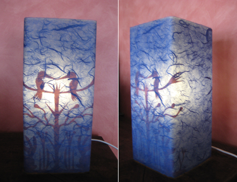 Lampa - Fågelblå